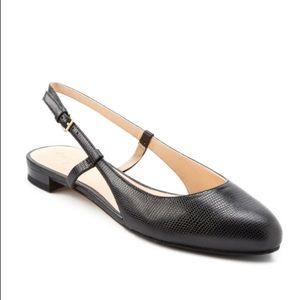 Cole Hann Marloe Leather Skimmer Flats in Black